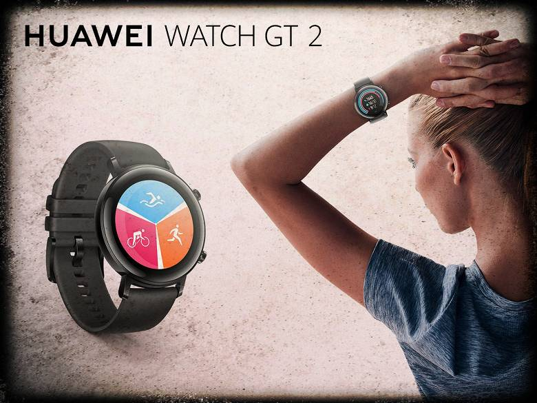 Smart watches Huawei Watch GT 2 with a new design
