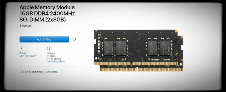 Apple still sells RAM for its space-marking PCs