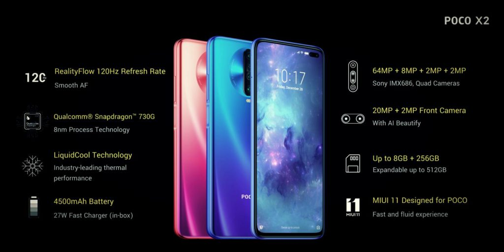 The new national flagship Poco X2 introduced