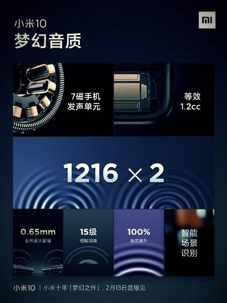 Xiaomi Mi 10 sound