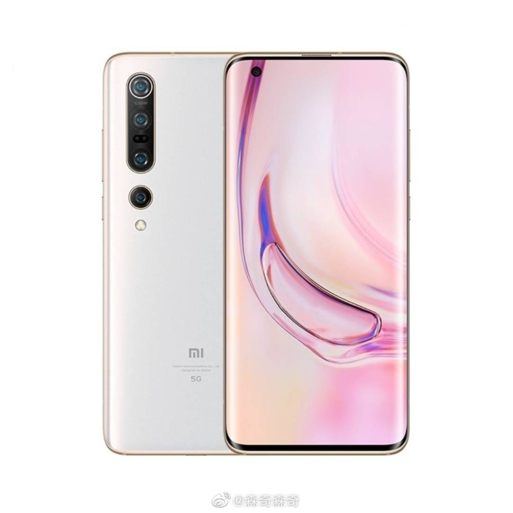 Xiaomi Mi 10 Pro first poses in white