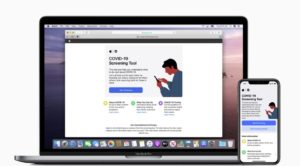 Apple launched the COVID-19 website for the iPhone app and MacBook Pro