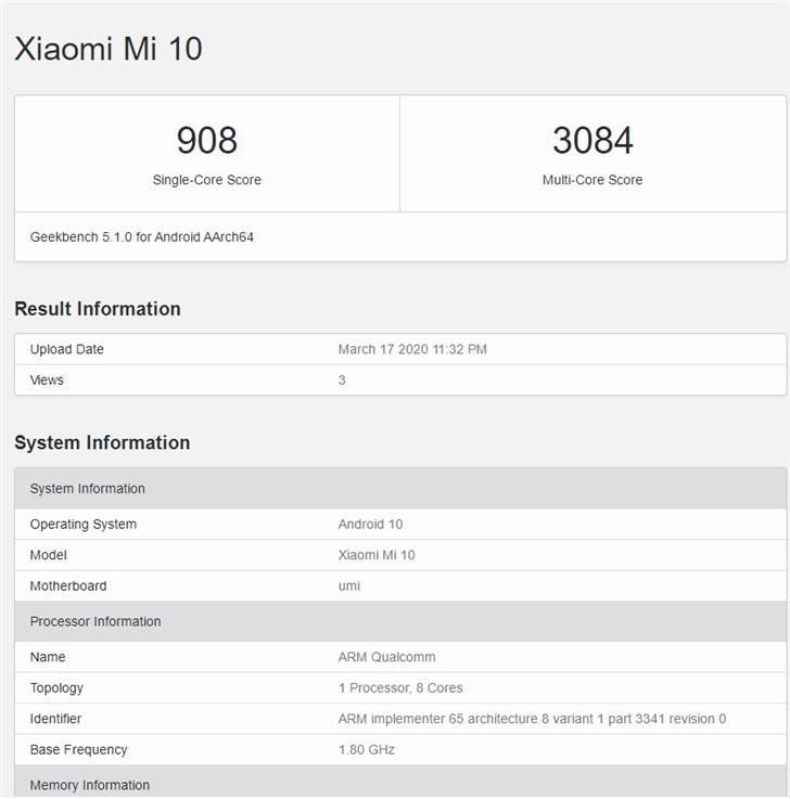 Xiaomi Mi 10 i