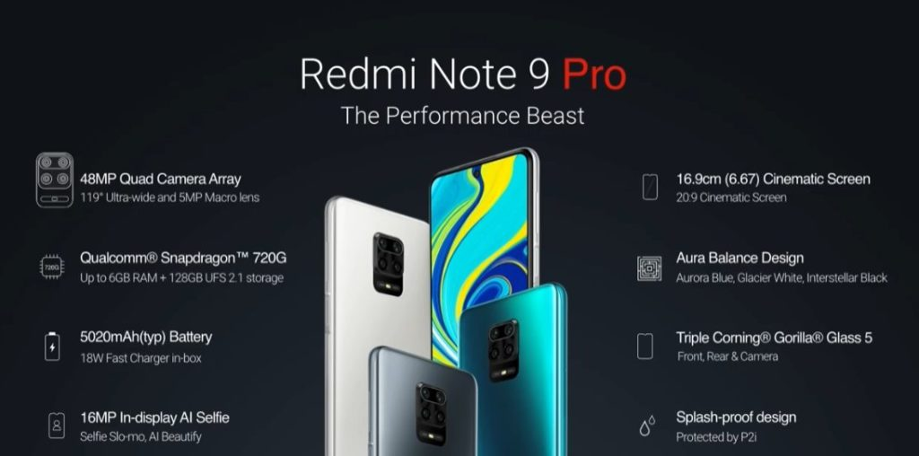 Bestseller Xiaomi Redmi Note 9 Pro Max introduced