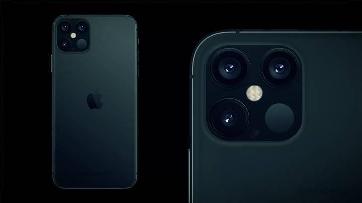 "Apple iPhone 12 Pro latest concept image exposure: rear ""Yuba"" four cameras"