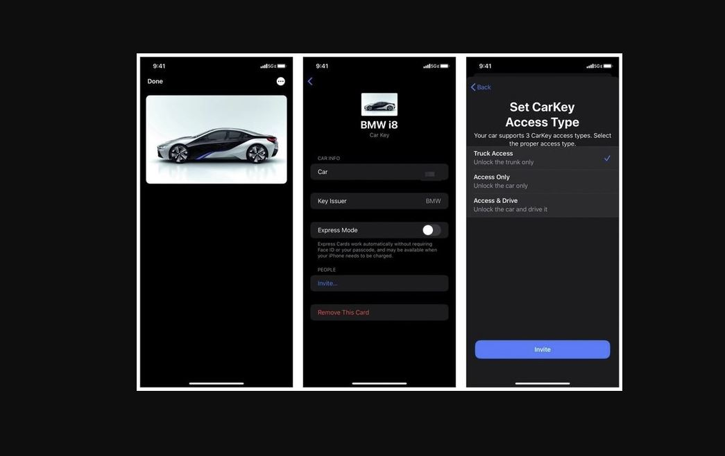 IOS 14 car key access