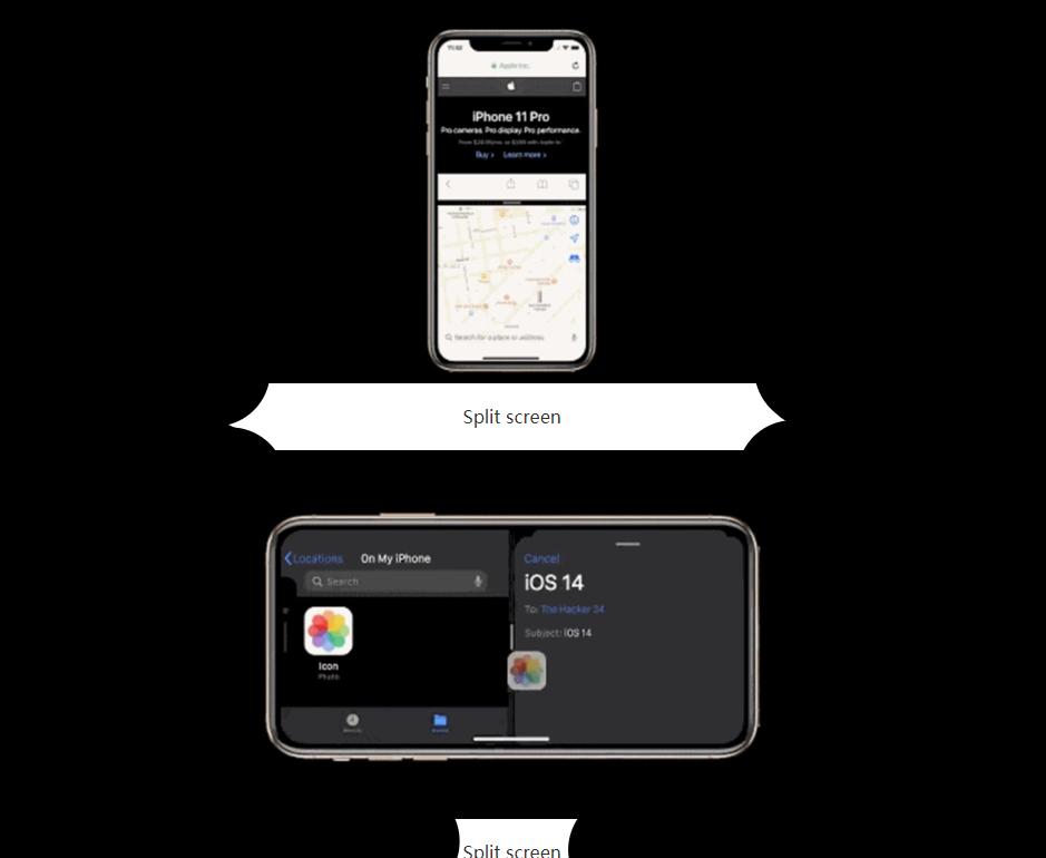 Ios 14 screen split feature