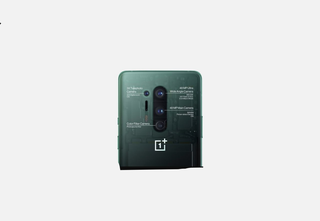 One Plus 8 and One Plus 8 Pro size rare camera