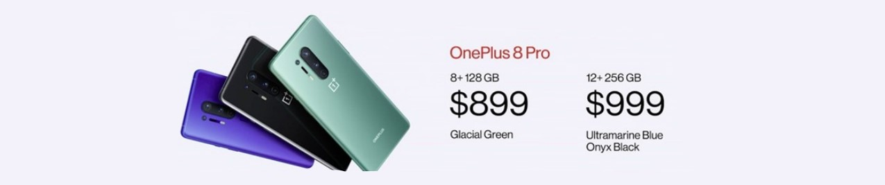One Plus 8 and One Plus 8 Pro