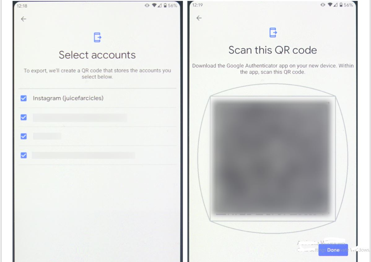 Google authenticator import and exprt key