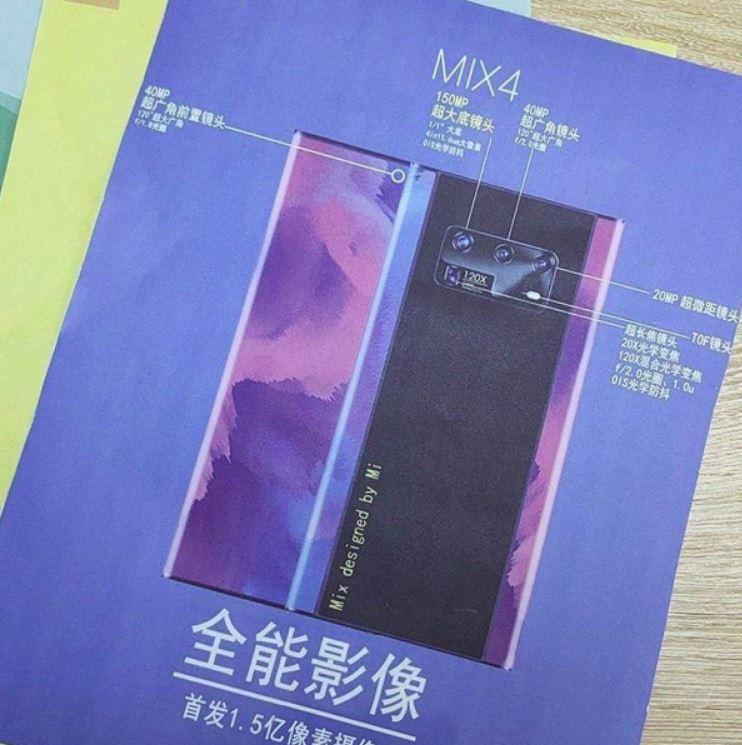 Does Xiaomi Mi Mix 4 reveal secret? 150-megapixel camera?