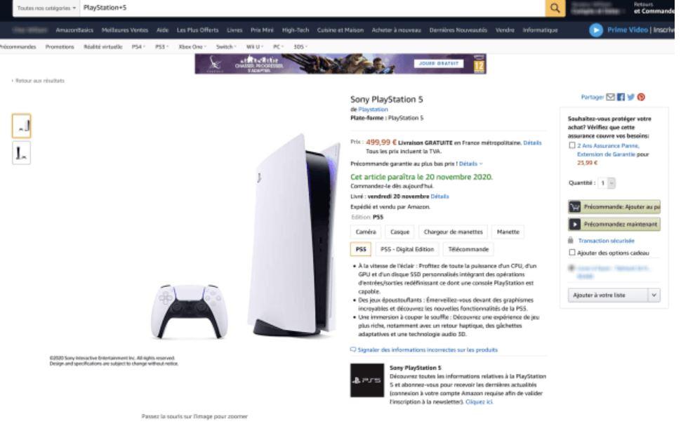 amazon Playstation 5