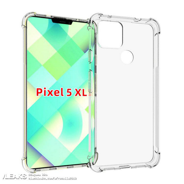 Google Pixel 5 XL first shown in a transparent case