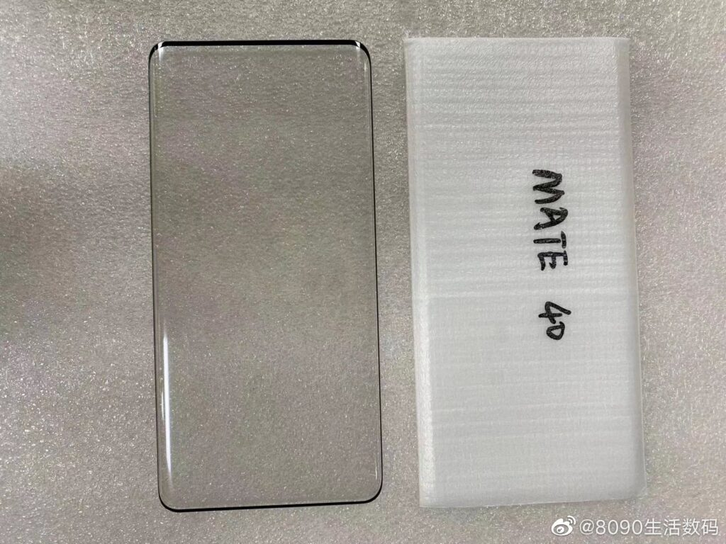 Huawei Mate 40 screen protector leaked: Also have a waterfall display