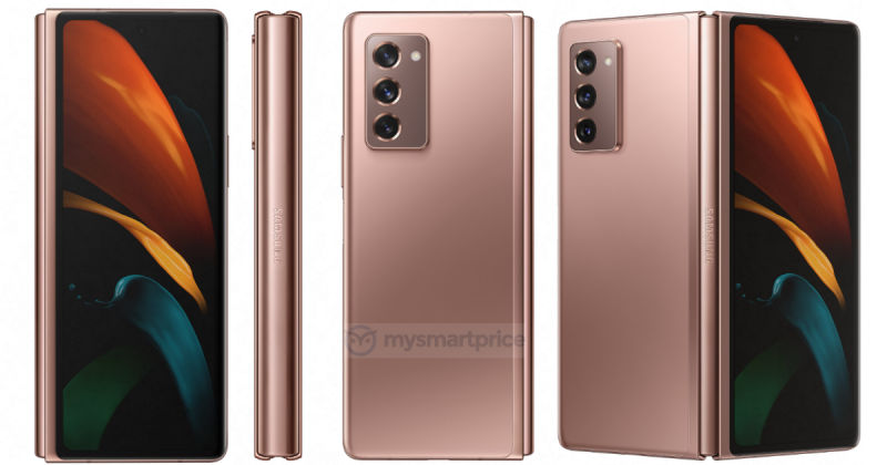 Samsung Galaxy Z Fold 2 5G on large official renders