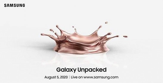Samsung confirms to hold Galaxy Unpacked 2020 event on August 5