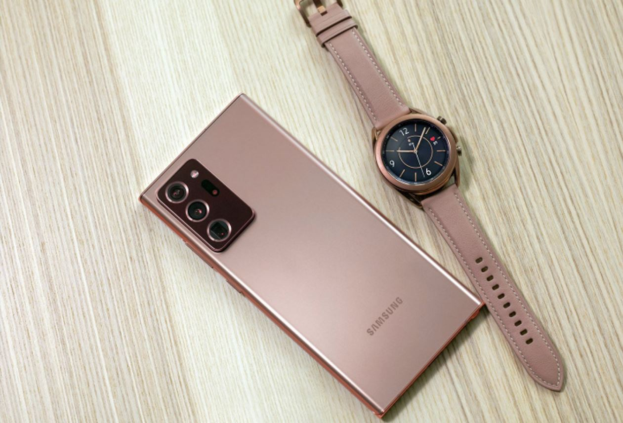 Galaxy watch 3 with note 20