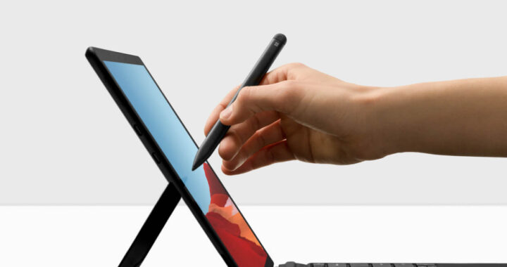 Microsoft launches new eye contact function for the Surface Pro X.