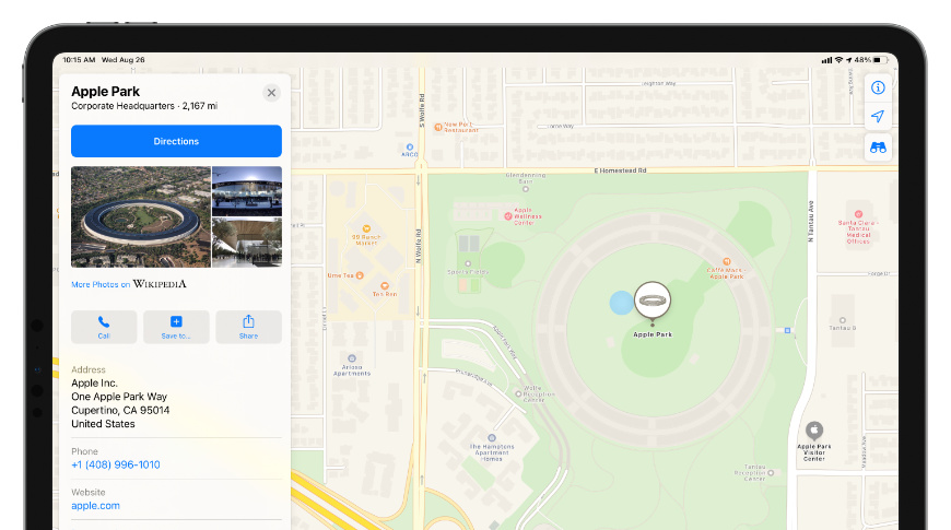 iOS 14 new Beta allows users to submit images or comments in the Apple Maps app